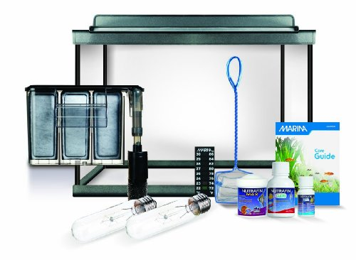 A detailed review of marina style 10 gallon aquarium kit for Acrylic vs glass fish tank
